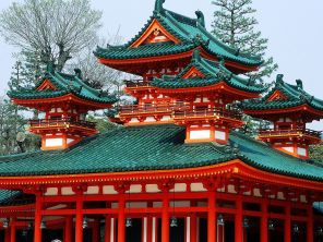 Templo das lanternas. Shrine. Kyoto Japão