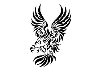 tribal_eagle_with_big_claws_tattoo