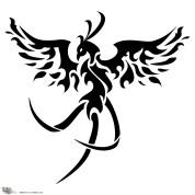 tribal-phoenix-tattoo