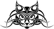 cat-tribal-tattoo
