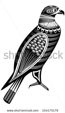stock-vector-vector-illustration-of-a-tribal-totem-animal-eagle-104175179