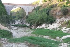 Un tram de riu Clariano es seca