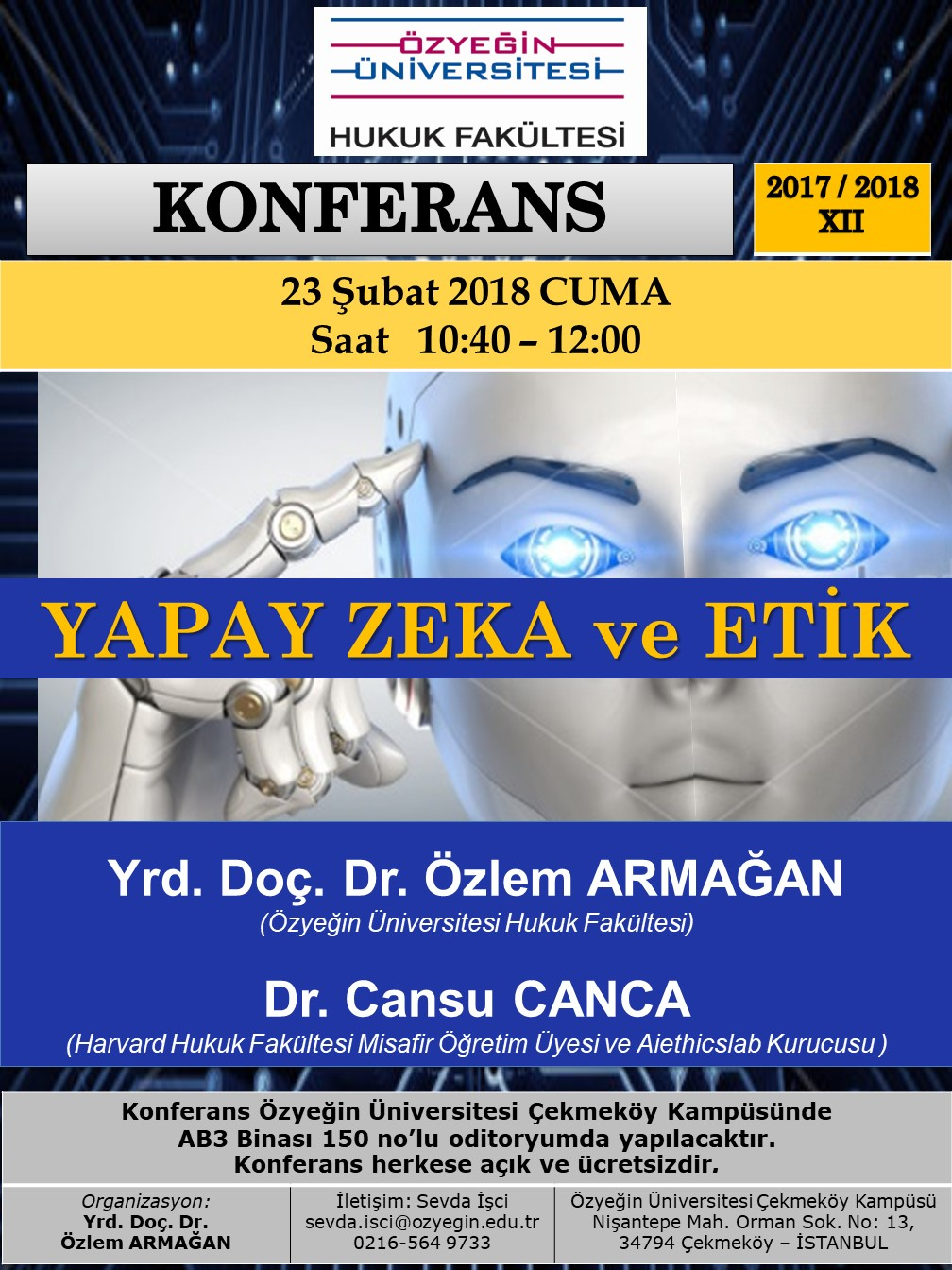 Ozyegin University, Law Faculty Conference – 23.2.2018