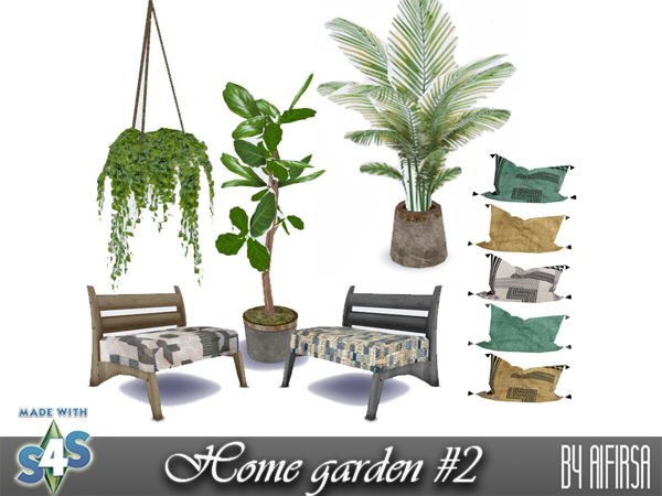 Комнатные растения и мебель для The Sims 4.