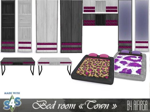 Набор мебели для спальни The Sims 4 : -книжная полка , много слотов -зеркало -шкаф -письменный стол -полка на стену , много слотов -двуспальная кровать