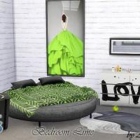 Мебель и декор для спальни The Sims 4 Lime.