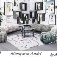 """Мебель и декор для гостиной The Sims 4 """"Anabel"""""""