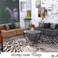 Набор мебели и декора для гостиной The Sims 4 Daisy