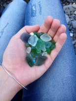 Some of the sea glass I found! I was obsessed with looking for it...