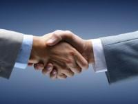 Kontaktformular Handschlag von Goodfon