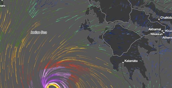 Προειδοποίηση για μεσογειακό κυκλώνα με 12 μποφόρ στο νότιο Ιόνιο