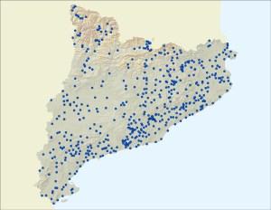 Mapa de les 523 depuradores avui en servei.