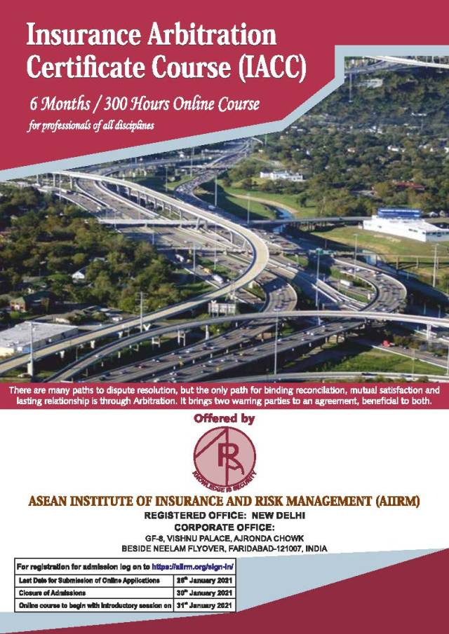 Insurance Arbitration Certificate Course (IACC) - Admission Brochure_Page_1