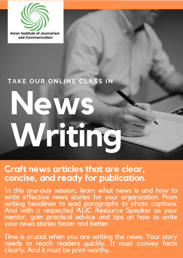 ONLINE NEWS WRITING COURSE - AIJC