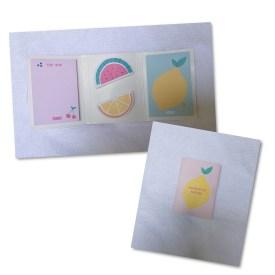 Adhesive Note Set Cute 2016