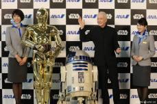 C-3PO, R2-D2 y Antony Daniels