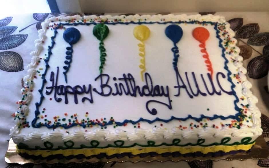 AUUC birthday cake
