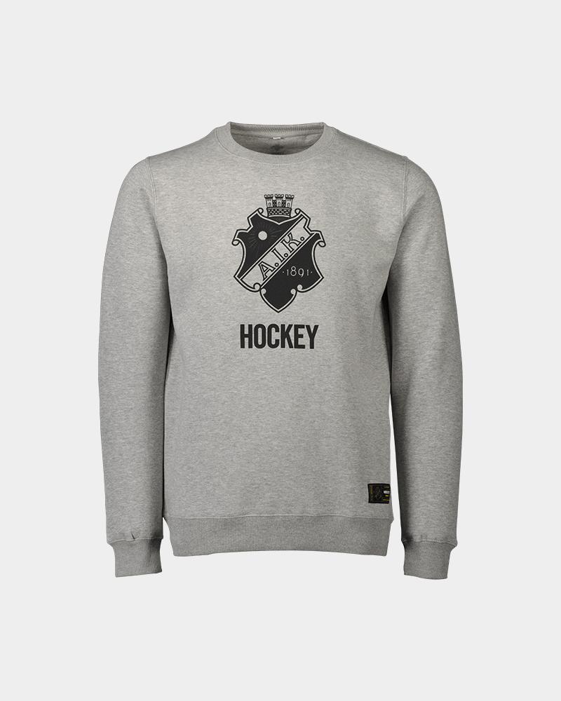 grå sweatshirt med aik tryck