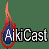 AikiCast podcast flame logo