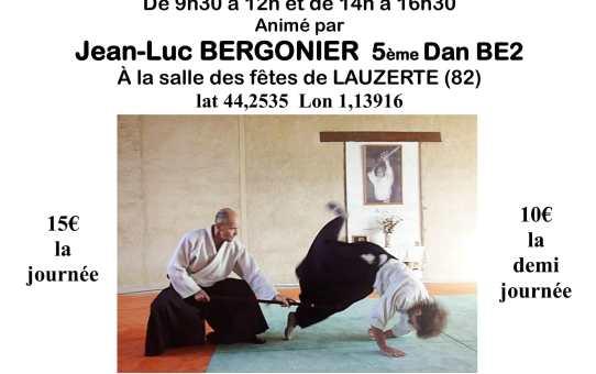Dimanche 3 Juin 2018 - Stage à Lauzerte avec Jean-Luc Bergonier 5ème Dan