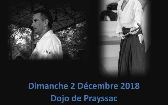 2 Décembre Stage à Prayssac animé par Patrick Henner 4ème Dan et Yann Goffin 4ème Dan