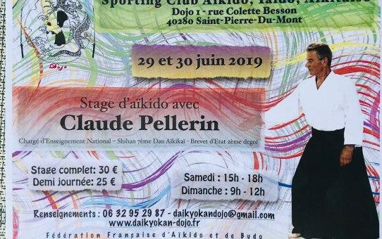 29 et 30 Juin 2019 - Stage d'Aïkido à Saint-Pierre-du-Mont animé par Claude Pellerin Shihan 7ème Dan - CEN