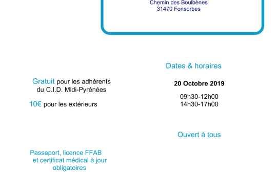 20 Octobre 2019 - Stage pour tous à Fonsorbes