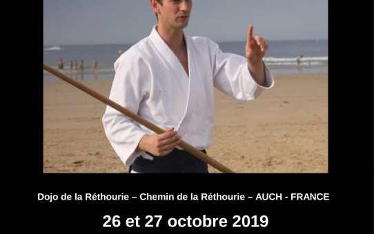 26 et 27 octobre 2019 - Stage à Auch avec  Xavier DUFAU 5 ème dan Aïkikaï  3ème dan F.E.I.  DEJEPS