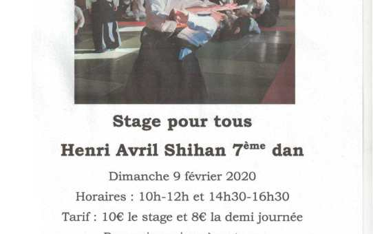 9 février 2020 - Stage avec Henri Avril Shihan 7ème dan au Fousseret