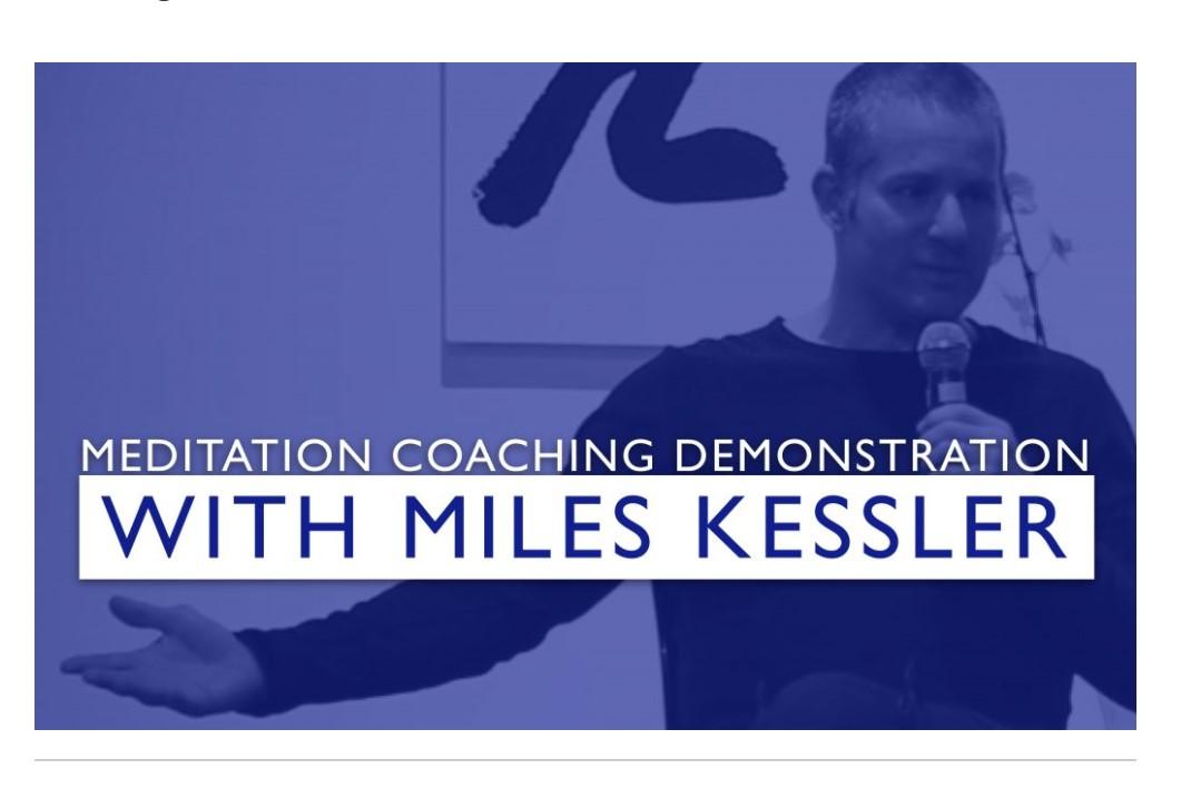 Meditation Coaching Demonstration with Miles Kessler, Januar 2020