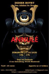 [:fr]Annulé - Stage - 11 octobre 2020 à Dojo des Guilands[:en]Canceled - Seminar - October 11th, 2020 - Dojo des Guilands[:] @ Dojo des Guilands