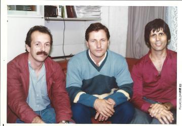 Début des années 1980, de gauche à droite : Didier Boyet, Christian Tissier, Stanley Pranin
