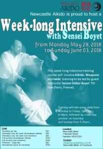 [:fr]Stage - 29 mai au 3 juin '18 - Newcastle – Australie[:en]Seminar - May 29th to June 3rd '18 - Newcastle - Australia[:]