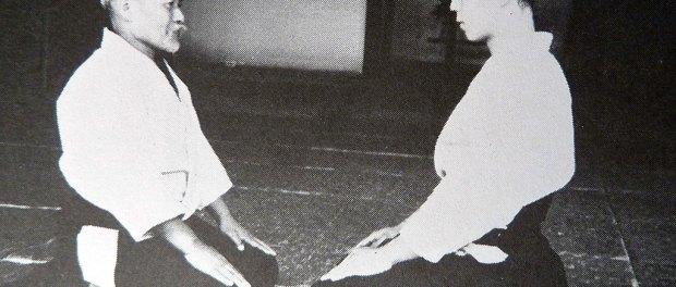 O Sensei Ueshiba y Kisshomaru