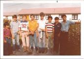 Grupo de jovenes y niños del Aikikai-Chile en Chile 1979