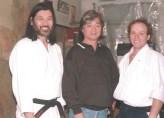 Sensei S.Sugano, Sensei Y.Yamada y Sensei J. Rojo Gutiérrez en Nueva York 1992