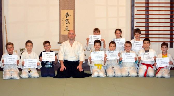 Junior csoportunk sikeres vizsgázói