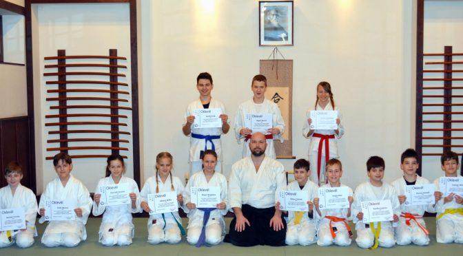 Junior aikidósok sikeres kyu vizsgája