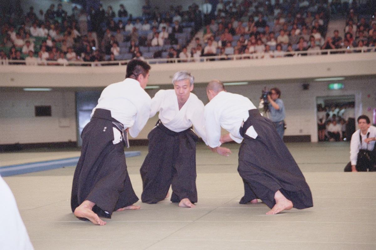 Doshu at All-Japan Demonstration in 2000