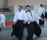 Curso Nacional de Aikido en Alicante, Tomás Sánchez y Roberto Sánchez, noviembre 2015 (Javier con Carlos)