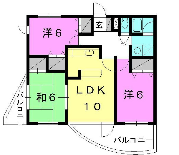 賃貸マンション 3LDK 角部屋 松山市保免上