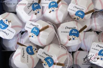 Lembrancinhas bolinhas de beisebol