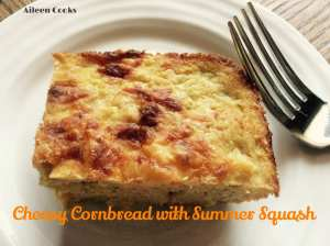 Cheesy Cornbread with Summer Squash