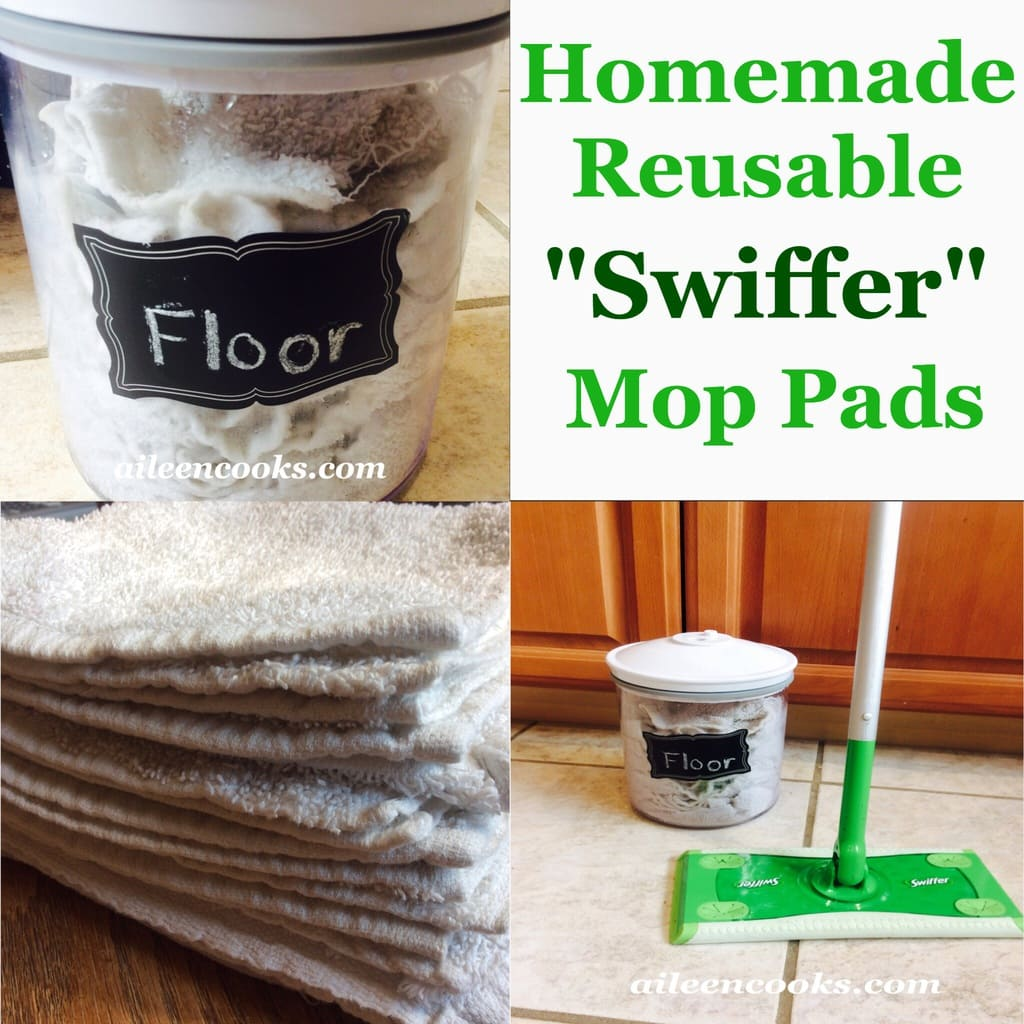 Kitchen Floor Pads Homemade Reusable Swiffer Mop Pads Aileen Cooks