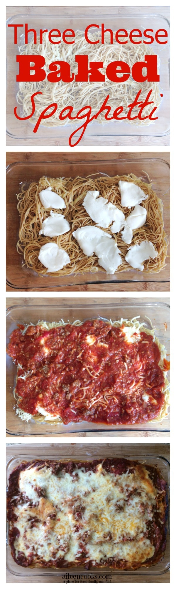 Three Cheese Baked Spaghetti 1