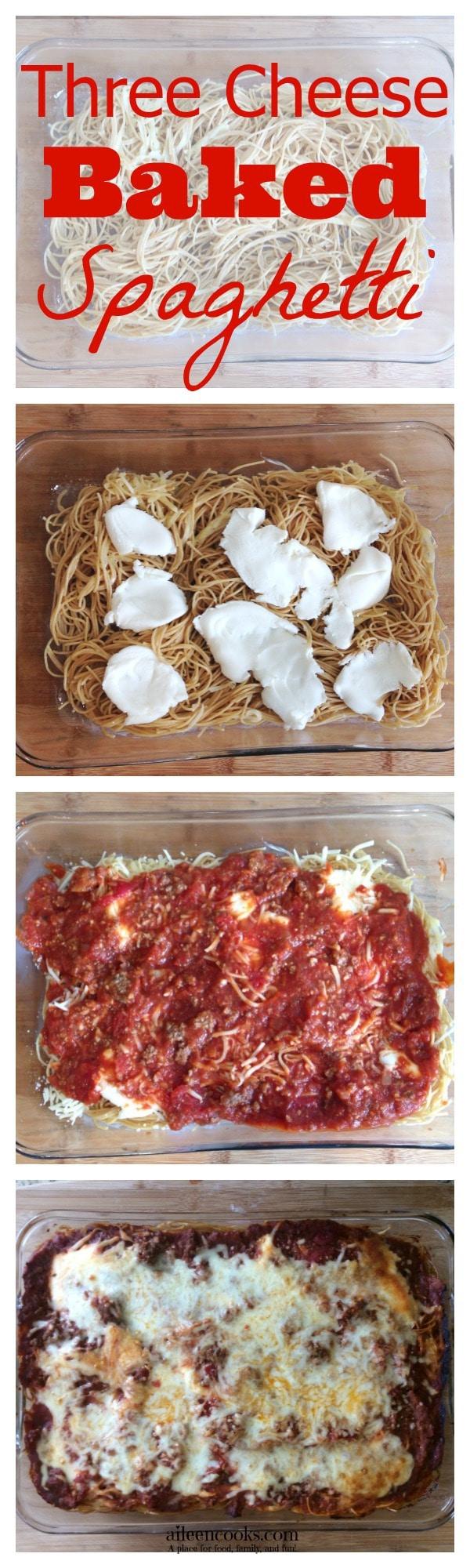 Three Cheese Baked Spaghetti 1