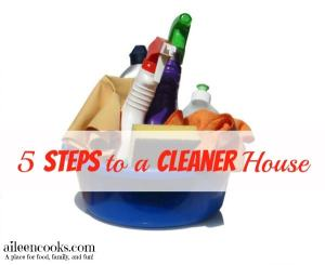 5 Steps to a Cleaner House
