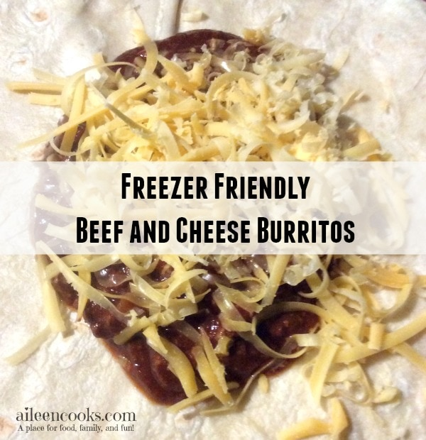 Make 20 burritos in under an hour with this easy recipe for Freezer Friendly Beef and Cheese Burritos from http://aileencooks.com