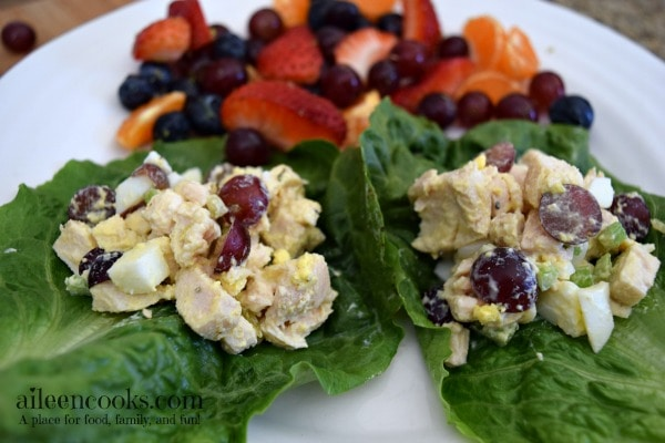 Chicken Salad Lettuce Wraps | aileencooks.com