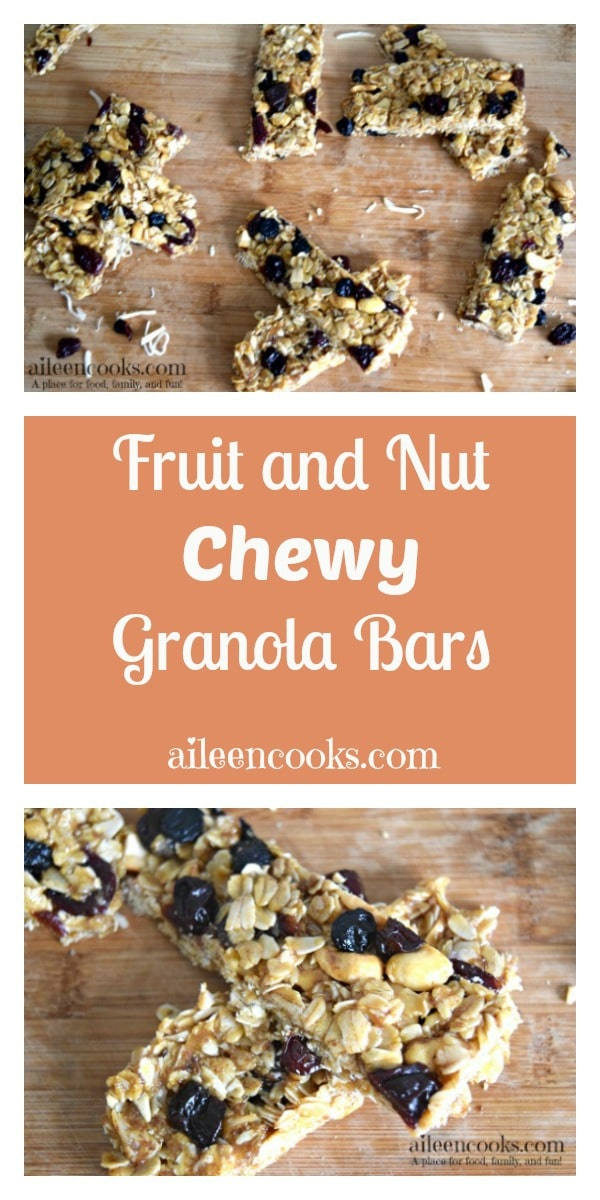 Fruit and Nut Chewy Granola Bars Recipe.. This healthy, no-bake granola bar recipe is made with coconut oil, honey, rolled oats, and dried fruits. These bars are deliciuos and perfect for on the go snacking.